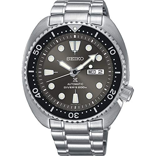 Seiko Herren Analog Automatik Uhr mit Edelstahl Armband SRPC23K1