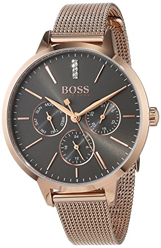 Hugo BOSS Unisex Multi Zifferblatt Quarz Uhr mit Edelstahl Armband 1502424