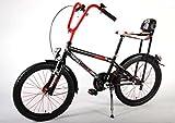 Moto chopper bicicleta niño trípode 20 pulgadas y frenos de aleación de V de 6 a 8 años de edad Rojo Negro
