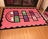 HAHAHA@ Größe 3 D 6 mm Ultra Thin Wohnzimmer Schlafzimmer Teppich Matten von Rechteckigem Grundriss Teppich Kinder Klettern Matten, Gelb, 1200Mmx1600Mm Buchstaben Spiel