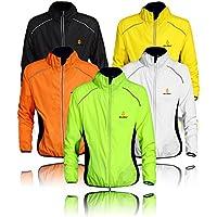 WOLFBIKE Chaquetas de Ciclismo para Hombre Impermeable Y Transpirable MTB Abrigo Cortavientos Súper ligero Aire Libre Sportswear (Verde XL)