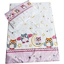 Juego de cama para cuna y funda de almohada, 2 piezas, 90 x 120 cm, muchos diseños disponibles