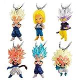 DB Dragon Ball Super UDM The Burst 39 Gashapon Figurine Key Chain Android 18 Vegetto Gogeta Gotenks Fu PVC Model Toys (1 Set)
