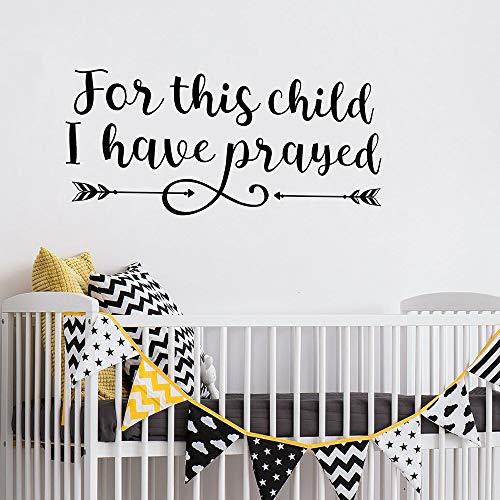 yiyiyaya Christian Wall Decals Schrift Zitat Für Dieses Kind Habe ich Samuel 1:27 Kinderzimmer Dekor Vinylwand cm gebetet
