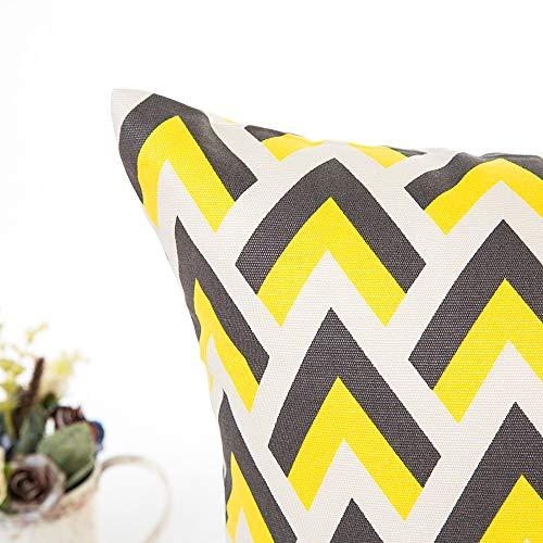Kissenbezüge 50x50 cm aus Mikrofaser Kissenhüllen 6er Set Weich mit Geometrischen Mustern Dekokissenbezüge für Sofa Auto Terrasse Zierkissenbezüge DEFG -