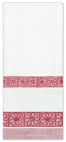 Design Works Crafts Handtuch, Gänseblümchen, gezählt, 45,7 x 71,1 cm, Rot (Gezählt Kreuzstich-handtücher)