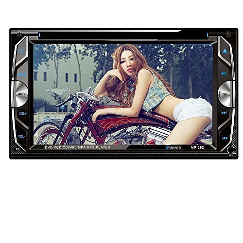 """Homelink® 262 6.2"""" Inch Touchscreen In-dash Double Din Car DVD Player Stereo Wireless Bluetooth Music CD MP3 FM Radio Receiver SD USB"""