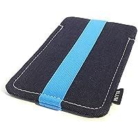 Blum - Jeans Hülle - Größe L - Passend für Samsung Galaxy S8 | S7 | S6 Edge | S5 Neo | A5 | Note 3 Neo etc. - Schlaufe blau