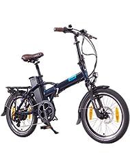 NCM London 20 Zoll Elektrofahrrad,E-Faltrad,E-Bike,Pedelec,Klapprad,36V 250W Bafang Motor, 36V Li-Ion Akku mit 14Ah PANASONIC Zellen,dunkel blau,schwarz