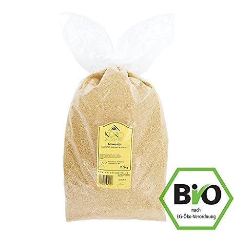 BIO Amaranth ● Aus kontrolliert Biologischem Anbau ● Glutenfrei ● 2,5 kg Packung ● KoRo