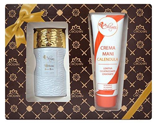 Confezione regalo donna (profumo 35 ml ispirato al 30% di fraganza alien therry mugler + crema mani calendula)