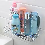 #9: HOKIPO® Magic Sticker Series Self Adhesive Chrome Plated Metal Kitchen Bathroom Shelves