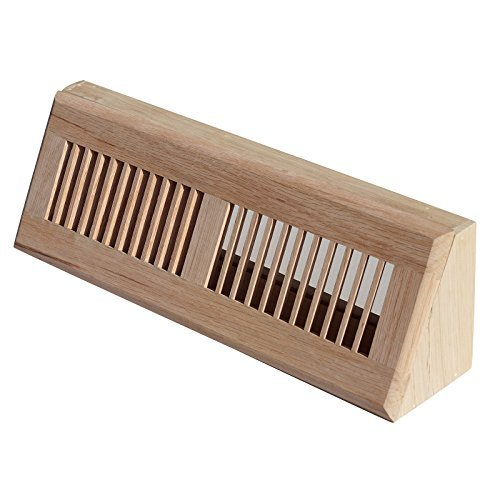 Welland Rot Eiche Baseboard Diffuser Holz Vent Register, 15 l x 3 1/2 W x 4 1/2 H Zoll