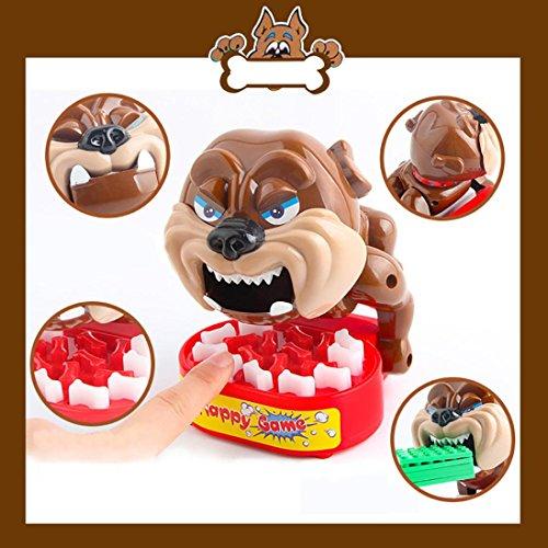 Cuidado con el juego de mesa de perro Juego de mesa de sonido de perro eléctrico Perro novedad broma Bones tarjeta de juguete Juego de mesa para niños