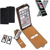 K-S-Trade Flipstyle Case für Allview X3 Soul Mini Schutzhülle Handy Schutz Hülle Tasche Handytasche Handyhülle + integrierter Bumper Kameraschutz, schwarz (1x)