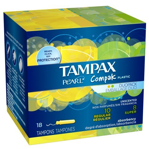 tampax-pearl-compak-plastic-duopack-with-regular-super-absorbencies-unscented-tampons-18-count-by-ta