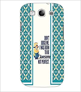 PrintDhaba Quote D-2788 Back Case Cover for SAMSUNG GALAXY S3 (Multi-Coloured)