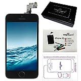 trop saint Ecran LCD iPhone 5S Noir - Kit Réparation Ecran Complet avec Notice, Tapis de Repérage Magnetique et Outils
