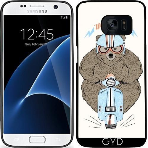 Custodia in silicone per Samsung Galaxy S7 (SM-G930) - Corridore Selvaggio by Olga Angelloz (S7 Racer)