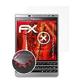 atFolix Schutzfolie passend für BlackBerry Passport Silver Edition Folie, entspiegelnde und Flexible FX Displayschutzfolie (3X)
