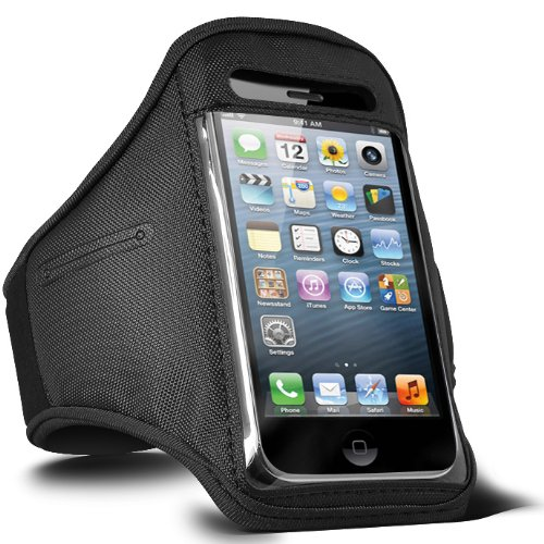 ONX3 Samsung Galaxy S3 Neo (Dual Sim) Einstellbare Sport Fitness Jogging Arm Gürtel Tasche (schwarz)