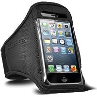 Fone-Case HTC One M7 verstellbaren Sport Fitness Jogging Arm Band Hülle (Schwarz)