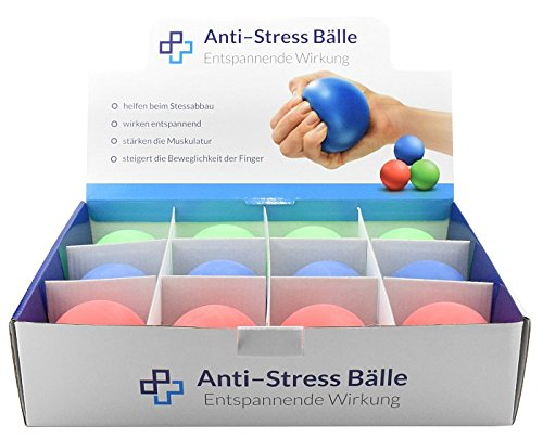 Anti-Stress-Ball Display, 12 Stück, Streßball, Anstistressball, Stressball