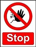 Stop Sicherheit Schild–1,2mm starrer Kunststoff 300mm x 200mm x 200mm