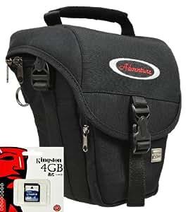 Aktions-Set Adventure Outdoor M Housse de rangement à porter à la ceinture pour protéger un appareil photo numérique + carte mémoire SD 4 Go