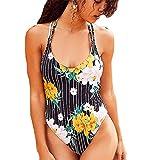 2019 Traje De Baño Mujer,Traje de baño a Rayas para Mujer Beikoard Moda para Mujer Impresión Bikini Bikini Mujer Sexy Traje De Baño Mujer Beachwear Mujer Swimsuit