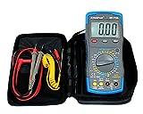HoldPeak HP-770B Digital Multimeter CATIII mit Fehlbedienungssperre, vielen Funktionen und Zubehör, Grau/Blau