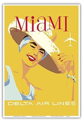 miami-florida-delta-air-lines-vintage-airline-travel-poster-c1960s-stampa-artistica-di-master-13-x-1