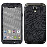 atFolix Samsung Galaxy S4 Active Skin FX-Wave-Black Designfolie Sticker - Fühlbare Wellen-Struktur