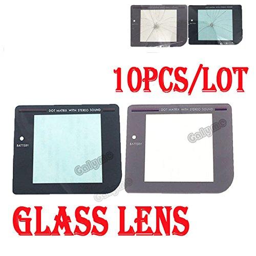 100/viel Licht, Grau/Dark Grau Farbe Glas Bildschirm Objektiv Panel für Gameboy GB Original Logo GBO DMG Display Case Cover Hülle Schale Objektiv