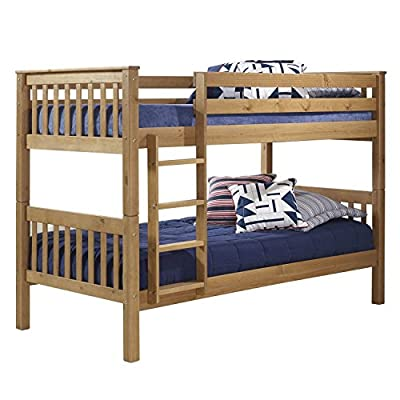 Pine Single Bunk Bed + Bunks Can Be Separated + Ladder Can Be Fixed to Either Side + FREE UK Delivery - low-cost UK Bunkbed shop.