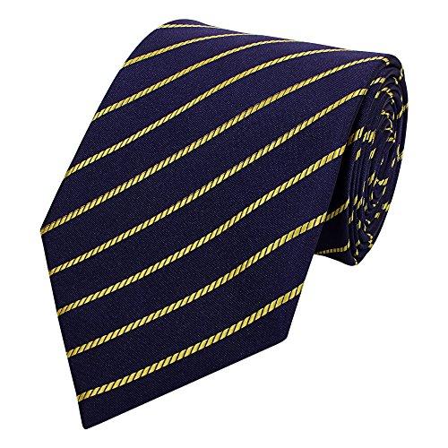 Gestreifte 8-CM Herren Krawatten von Fabio Farini, in verschiedenen Farben für alle Anlässe, Lila-Gelb gestreift