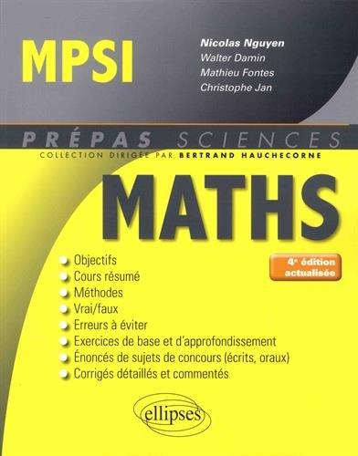 Mathématiques MPSI - 4e édition actualisée thumbnail