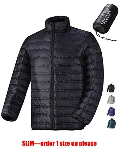 Lesmart Homme Doudoune Hiver Veste Ski Courte Randonnée Impermeable Sport Taille XL Nio