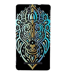 Roaring Lion Back Case Cover for Sony Xperia C3 Dual D2502::Sony Xperia C3 D2533