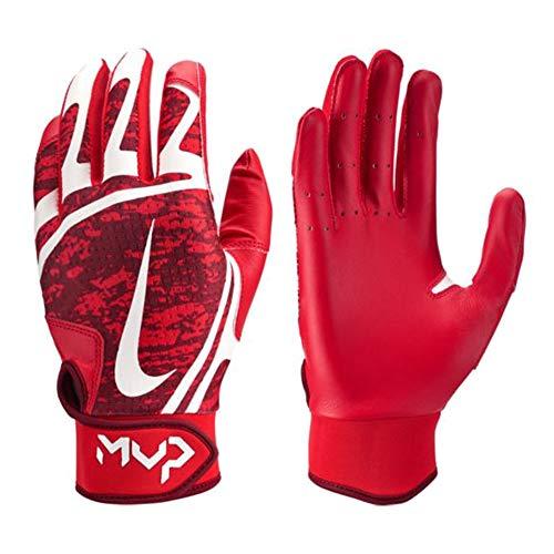 Nike Hyperdiamond Edge Baseball Handschuhe, Batting Gloves - rot/weiß Gr. M