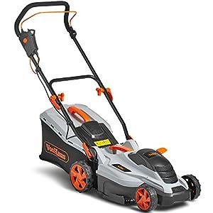 "51p2PZiU9KL. SS300  - VonHaus Petrol Lawnmower 16"" Self-Propelled Drive With 5 Cutting Heights In Distinctive Grey, Orange & Black"