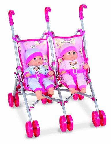 Preisvergleich Produktbild Dimian 511-143 - Zwillings-Puppenbuggy San Diego