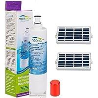 Cartucho de filtro de agua para nevera para Whirlpool, Ariston, Hotpoint, Smeg sustituye a SBS002, S20BRS, 4396508 y 2 filtros de aire antibacterianos compatibles con Microban