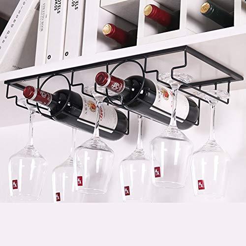 Fullwine Multi-Funktion Hängende Wein Rack Mit Glashalter,Metall-weinhalter Startseite Küche Bar Wein Aufbewahrungsregal-q
