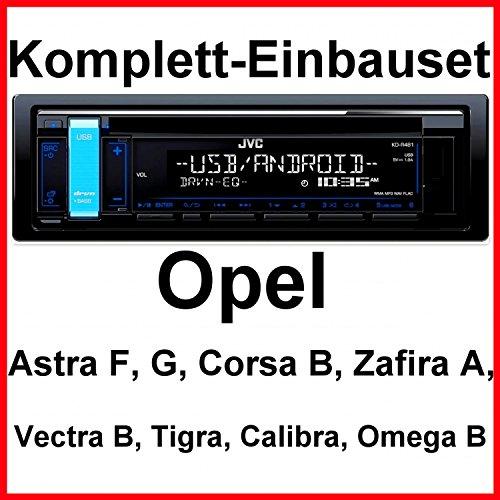 Preisvergleich Produktbild Komplett-Set Opel Astra F G Corsa B Zafira A KD-R481 Autoradio USB FLAC CD MP3
