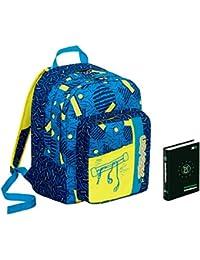 d5f07e8917 Zaino scuola Outsize SEVEN + DIARIO - Swag Boy - Blu Giallo - 33 LT -