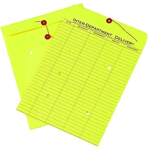 Box ben1096inter-department Briefumschläge, 25,4x 33cm gelb (100Stück)