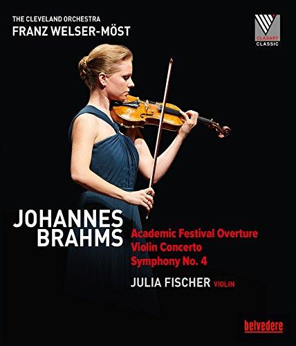 Preisvergleich Produktbild Johannes Brahms: Academic Festival Overture; Violin Concerto; Symphony No. 4 [Julia Fischer; Cleveland Orchestra; Franz Welser-Möst] [Belvedere: BVE08010] [Blu-ray]