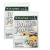 WRAPOK Pergamentpapier Antihaft Backen Plätzchen Blätter Vorschnitt Pergament Papier Pan Liner Für Kochen Kuchen Küchen 12 x 16 Zoll 100 Stück