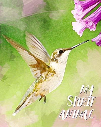 My Spirit Animal: Hummingbird Watercolor - Lined Notebook, Diary, Track, Log & Journal - Cute Gift for Kids, Teens, Men, Women (8
